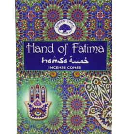 Green Tree Hand of Fatima Incense Cones -10
