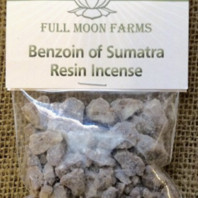 Benzoin of Sumatra Resin Incense 1oz-Full Moon Farms