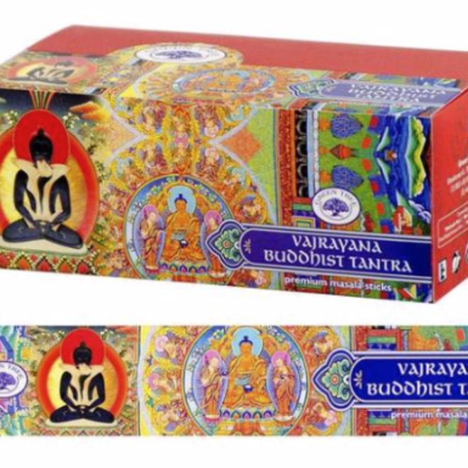 Vajrayana Buddhist Tantra Incense Sticks-Green Tree (12/Box)-15g