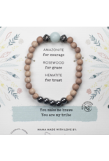 "AMAZONITE GEMSTONE ""BE COURAGEOUS"" BE YOUR OWN HERO BRACELET"