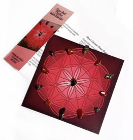 Open Root Chakra Sacred Stone Grid