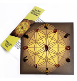 Open Solar Plexus Chakra Sacred Stone Grid