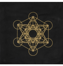 Printed Cotton Crystal Grid - Metatron