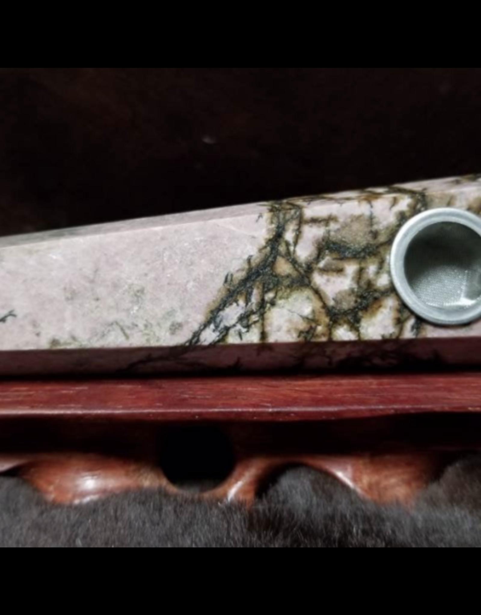 Crystal Pipe - Rhodonite