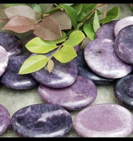 Lepidolite - Flat Worry Stone