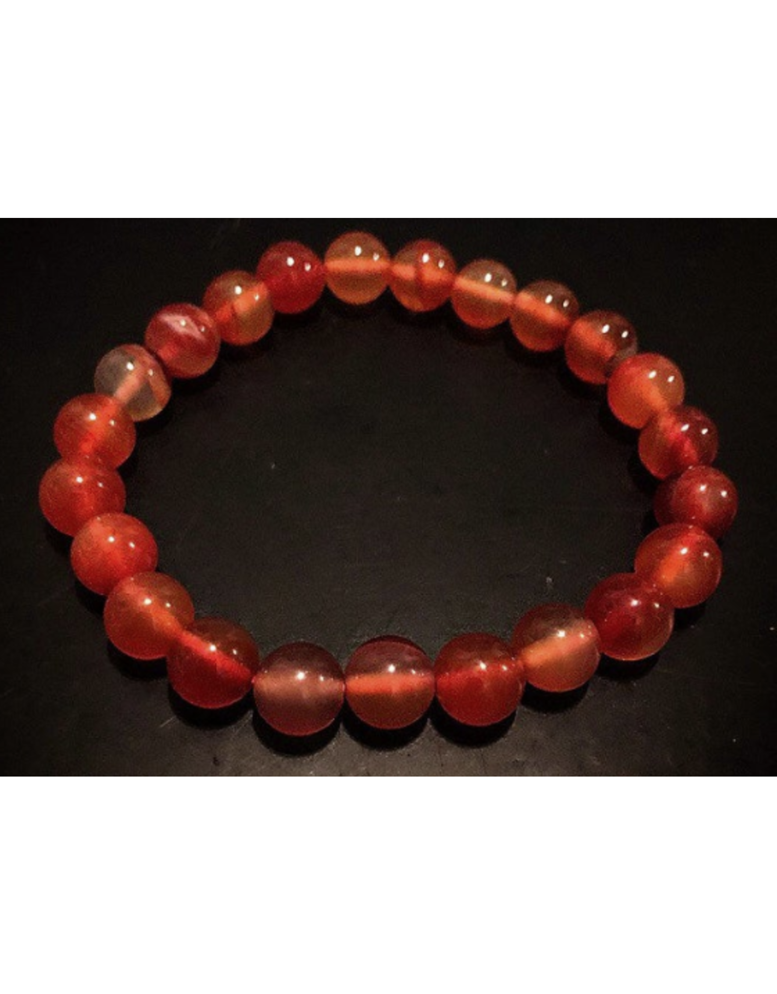 Brown & Red Agate Bracelet 4mm
