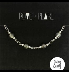 Color Theory  - Genuine Smoky Quartz Bead and Silver Bracelet