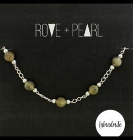 Color Theory - Genuine Labradorite Bead and Silver Bracelet