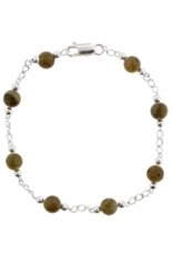 Color Theory - Genuine Labradorite Bead and Silver Bracelet