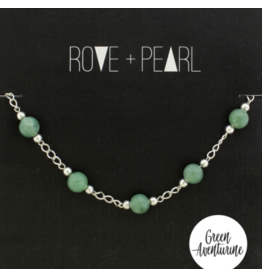 Color Theory - Green Aventurine Bead and Silver Bracelet