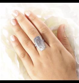 Botswana Agate Rectangular Ring