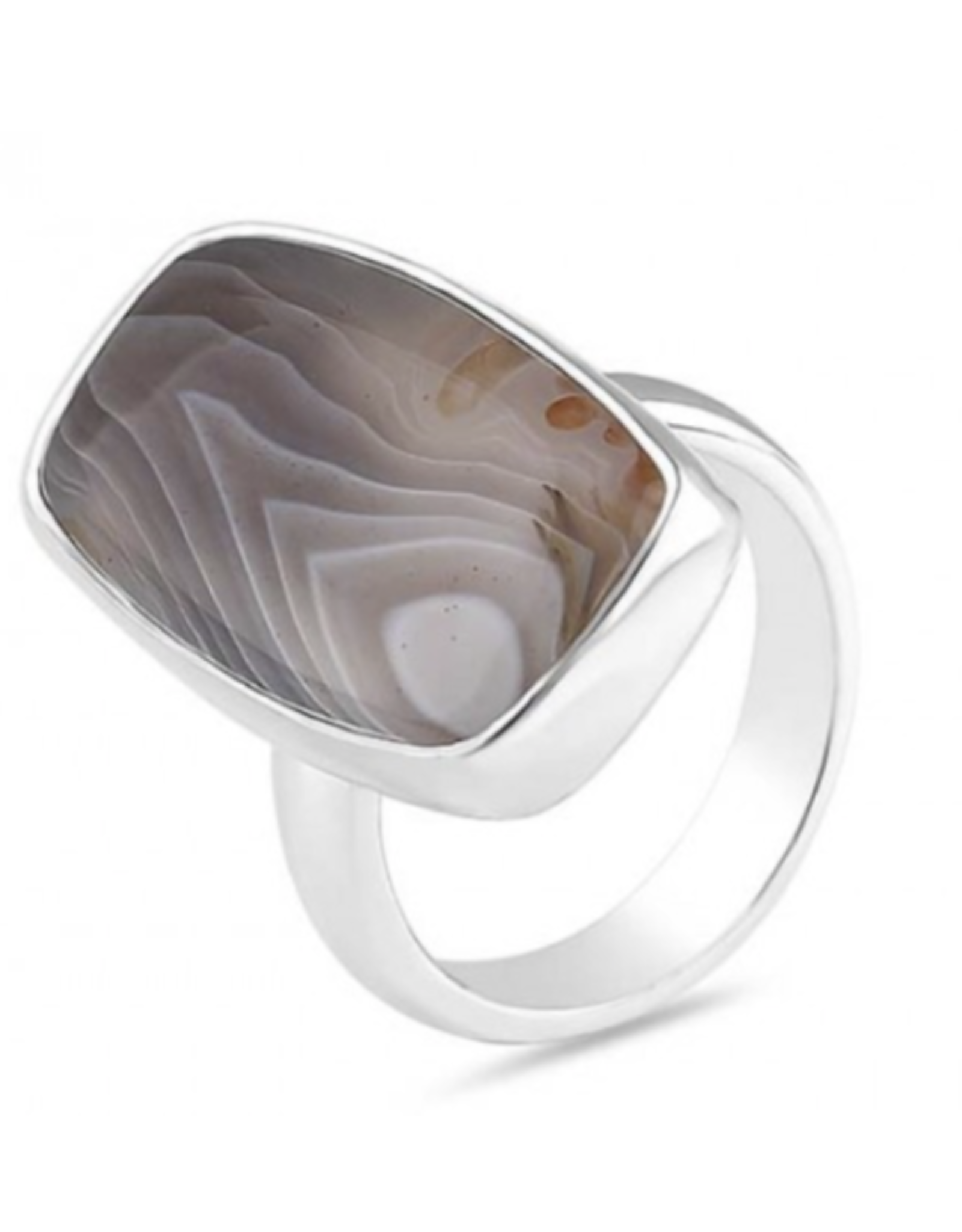 Botswana Agate Rectangular Ring