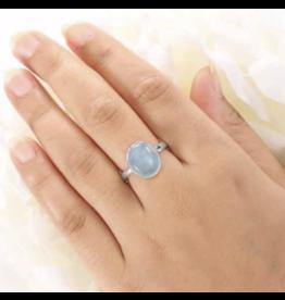 Aquamarine Ring - Adjustable