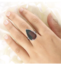 Bloodstone Ring - Adjustable