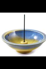 Azure – 4.5-inch Round Incense Holder