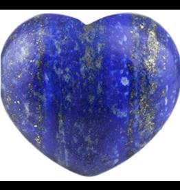 Blue Lapis Lazuli Puffy Heart