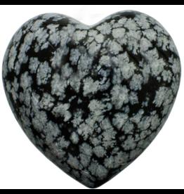 Snowflake Obsidian Heart