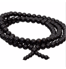 Gemstone Elastic Mala Prayer Bracelet - Black Tourmaline