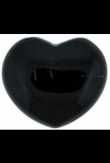 Black Obsidian Puffy Heart