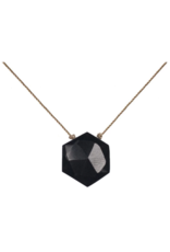Black Spinel Gemstone Sacred Geometry Necklace to Recharge