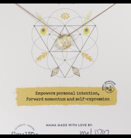 Citrine Gemstone Sacred Geometry Necklace to Manifest