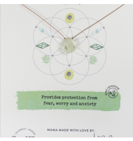 Prehnite Gemstone Sacred Geometry Necklace to Protect