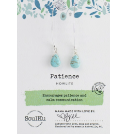 Patience - Howlite - Long Earrings