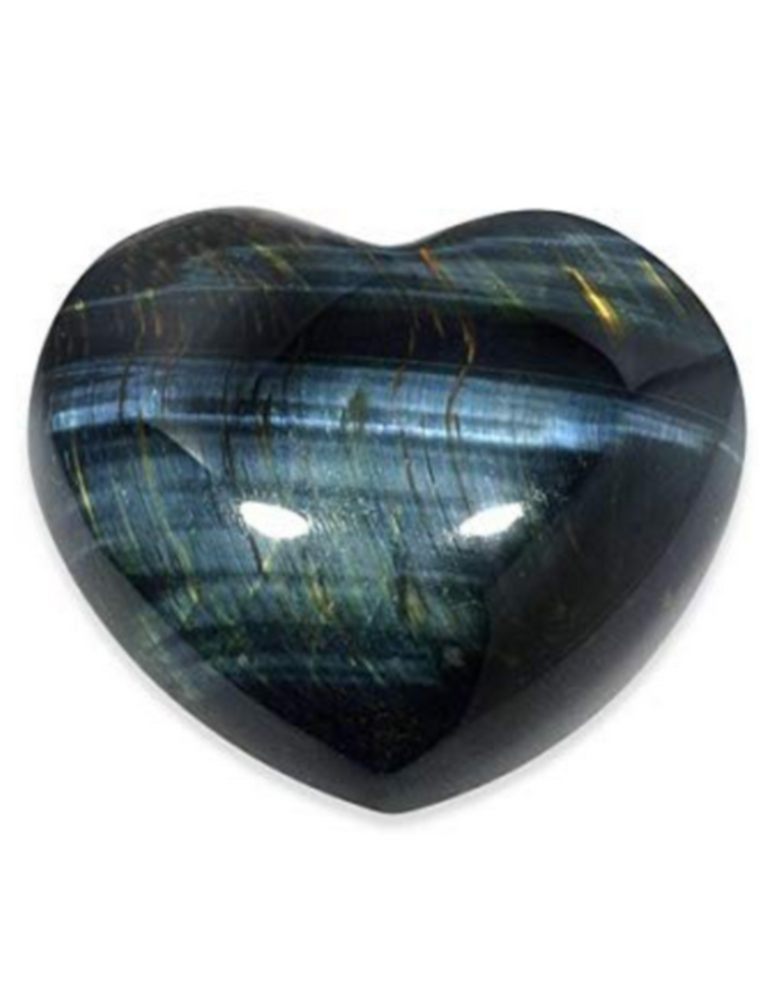 Blue  Tigers Eye Heart