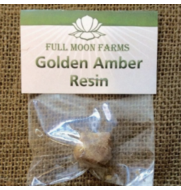 Full Moon Farms Golden Amber Resin Incense 1oz