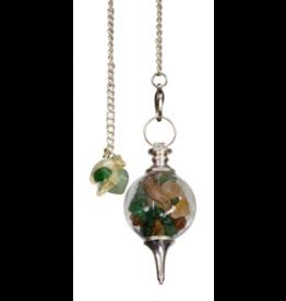 Pendulum Glass Sephoroton Green Aventurine & Citrine Chips – Prosperity