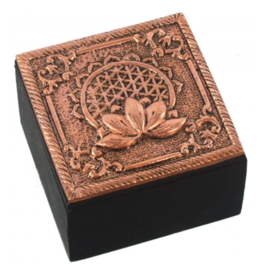 Bronze Metal Trinket Box- Flower of Life