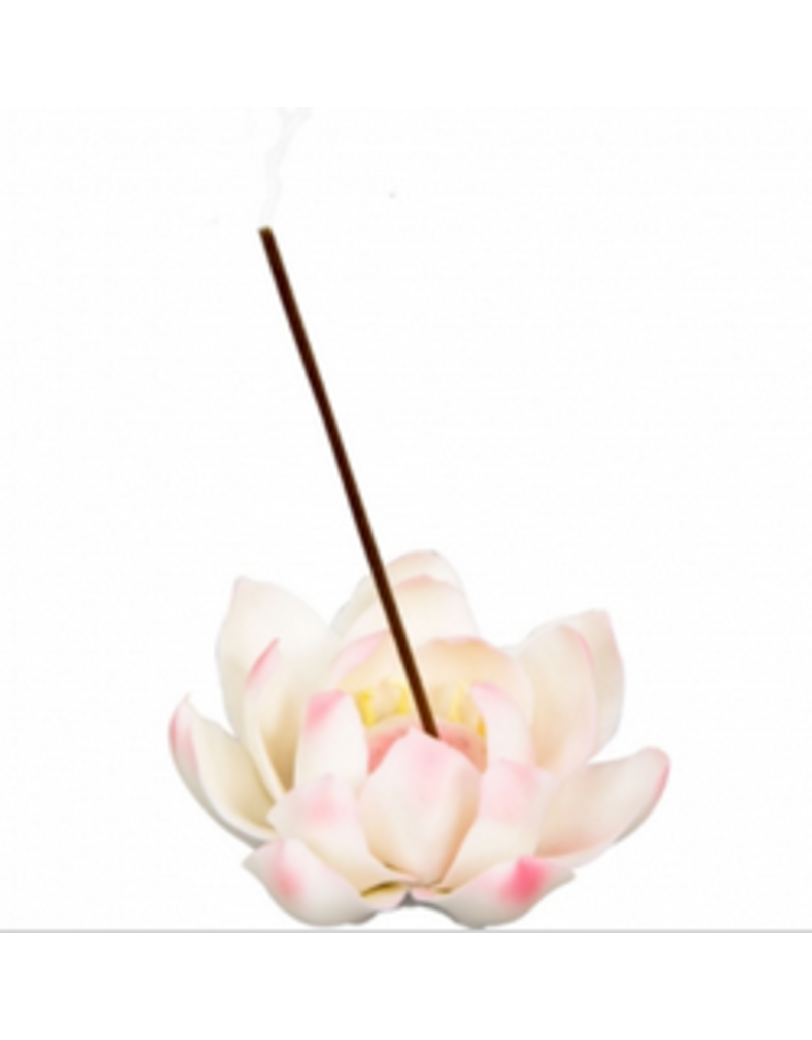 Ceramic Incense Burner - White Lotus