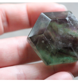 Faceted Rainbow Fluorite Gems