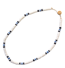 Blue Clam Shell Coco Necklace