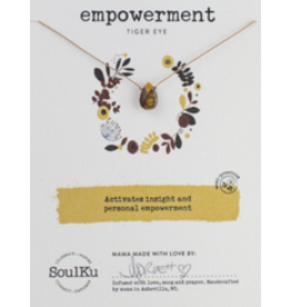 Gold Tiger Eye Necklace for Empowerment-SoulKu