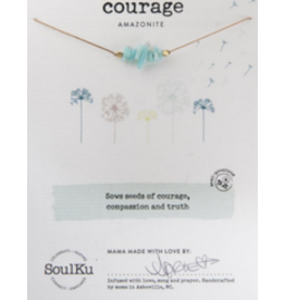 Seed Necklace - Amazonite - Courage
