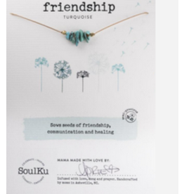 Turquoise Seed Necklace For Friendship - Soulku