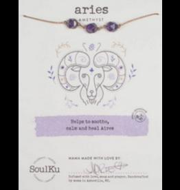 Zodiac Necklace Amethyst - Aries