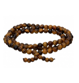 Gemstone Elastic Mala Prayer Bracelet - Tiger Eye