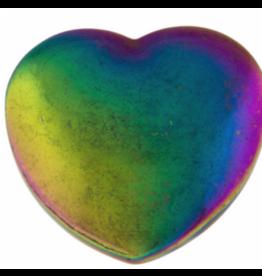 Rainbow Hematite Heart