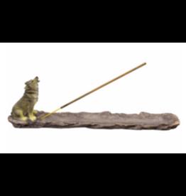 Polyresin Incense Holder - Wolf
