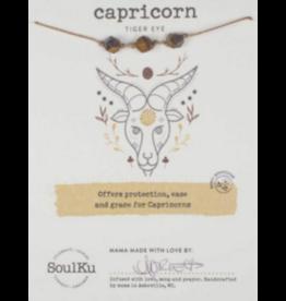 Zodiac Necklace Tiger Eye - Capricorn SoulKu