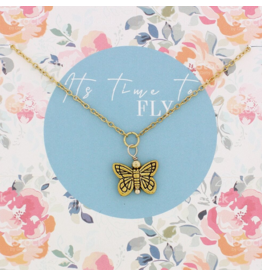Snapshot Necklace - Butterfly