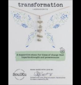 LABRADORITE GEMSTONE FAIRY NECKLACE FOR TRANSFORMATION (VERTICAL)