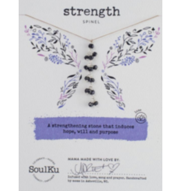 SPINEL GEMSTONE FAIRY NECKLACE FOR STRENGTH (VERTICAL)