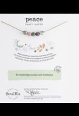 Fancy Jasper 5 Bead Intention Necklace for Peace & Harmony- SoulKu