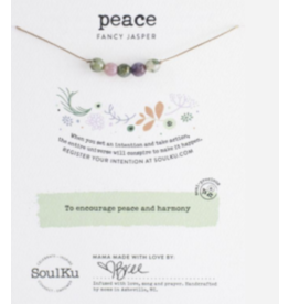 FANCY JASPER GEMSTONE INTENTION NECKLACE FOR PEACE & HARMONY
