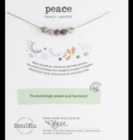 Fancy Jasper Intention Necklace for Peace & Harmony-5 Beaded SoulKu