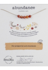Carnelian Intention Necklace for Abundance - 5 Bead SoulKu