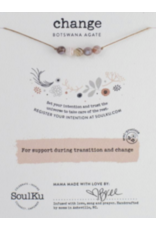 Botswana Agate Intention Necklace for Change-5 Bead SoulKu